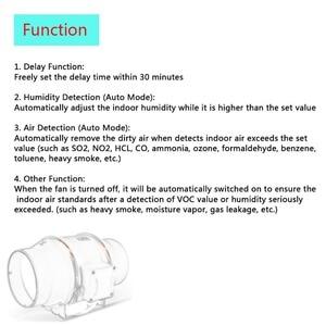Image 5 - 220V 5 Smart Inline Condotto della Ventola e Umidostato e Timer Bagno di Ventilazione Ventilatore con Smart Sensor Controller Air estrattore 125 millimetri
