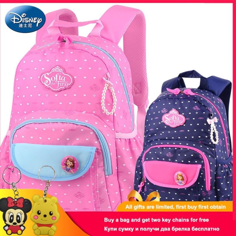 Disney Sophia Princess Children Backpack High Quality School Bag For Girls Cartoon Schoolbag Ultralight Kids Satchel Grade 1-3