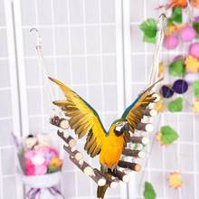 Pet Bridge Bird Ladder Budgerigar Parrot Swing Sturdy Flexible Rope Natural Wooden Training Toy Easy Installation(China)