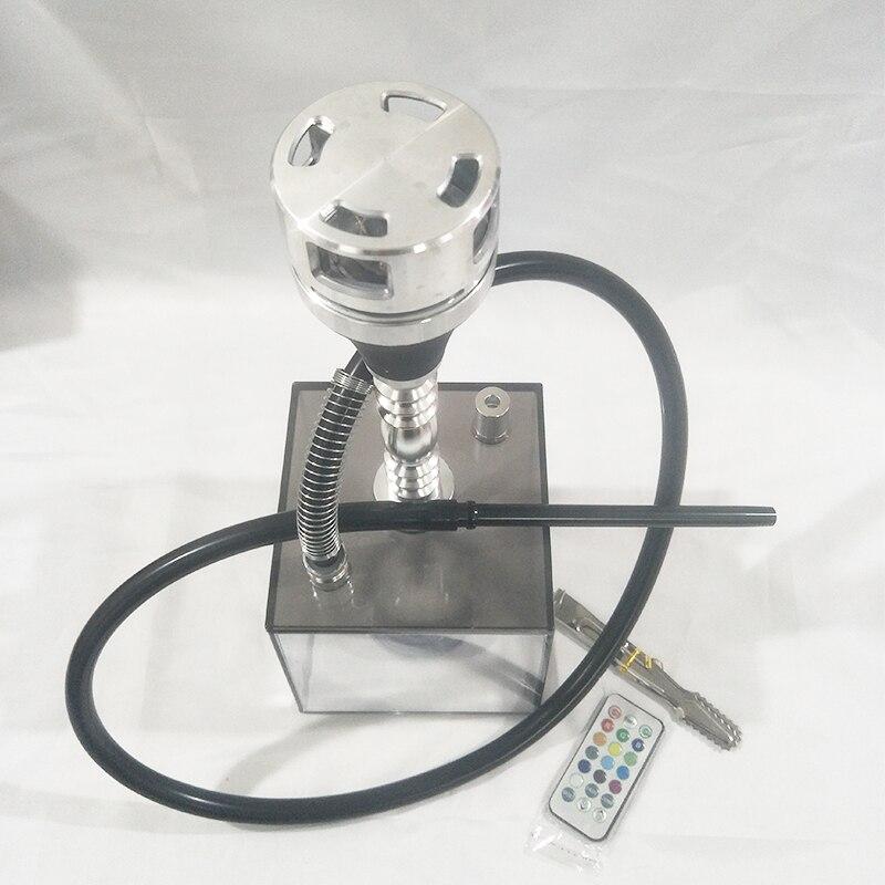 2020 New Acrylic Hookah Kit, Hookah With LED Light Windproof Aluminum Tobacco Pot Carbon Separator, Bar KTV Smoking Accessories