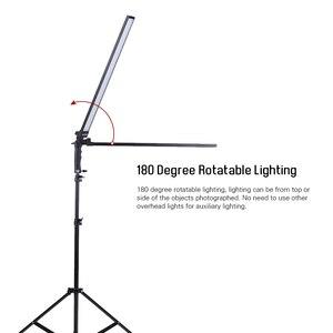 Image 3 - Andoer 비디오 조명 스튜디오 키트 사진 스튜디오 Llight Led 라이트 키트 Dimmable 핸드 헬드 필 라이트 w/라이트 스탠드 36W 5500K CRI90 +