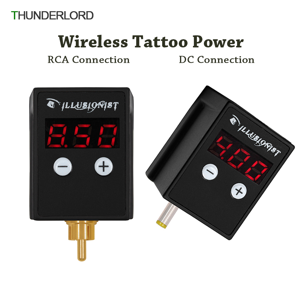 Wireless Tattoo Power Supply RCA/DC Connector Mini Digital Tattoo Machine Battery Power For Tattoo Pen Machine Tattoo Supplies