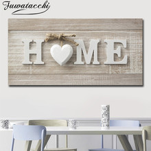Fuwatacchi Modern Home Lettle Oil Painting Simple Print and Poster Artword Wall Picture for Living Room Cuadros Home Decorations