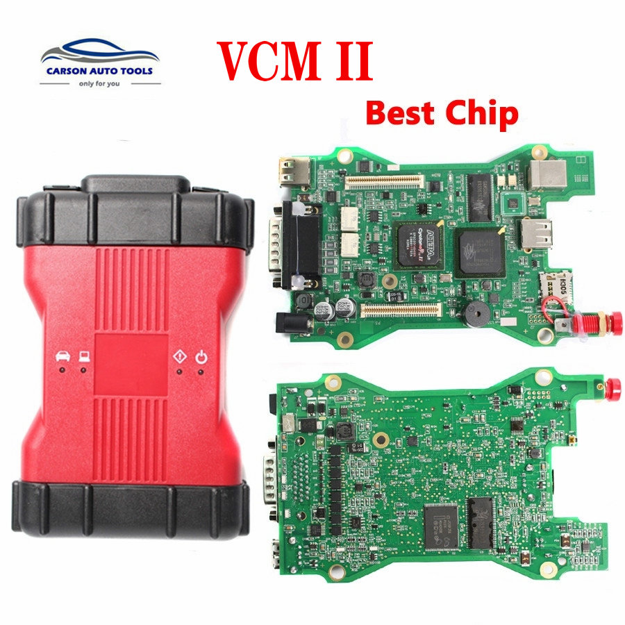 Free Shipping VCM 2 Dianostic Scanner Multi-language VCM2 IDS Best Chip Diagnostic Tool VCM II VCMII OBD2 Scanner For Frd/M-azda
