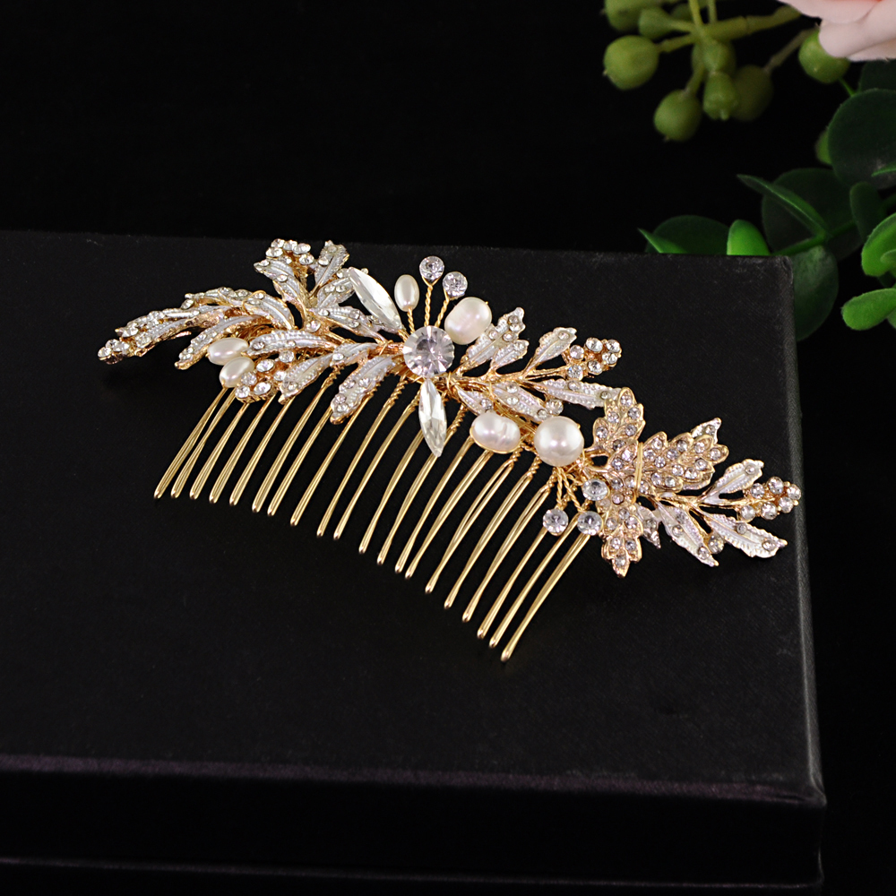 TRiXY H14 Rhinestone Wedding Hair Combs Bridal Hair Clips Accessories Jewelry Handmade Head Ornaments Bridal Headpiece For Bride