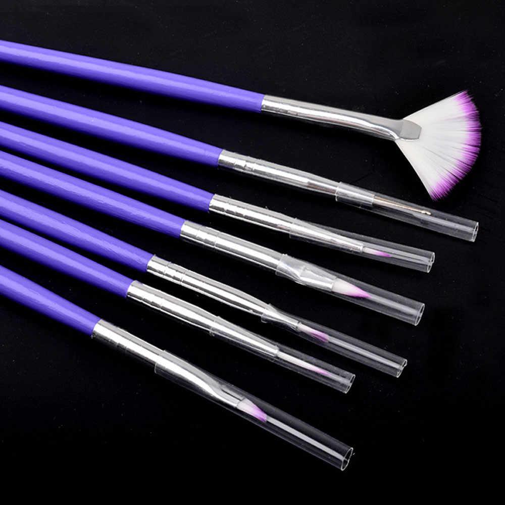 7 個ライナー点在ファンデザインアクリルビルダー結晶塗装描画彫刻ペンの Uv ゲルマニキュアツールセット 109