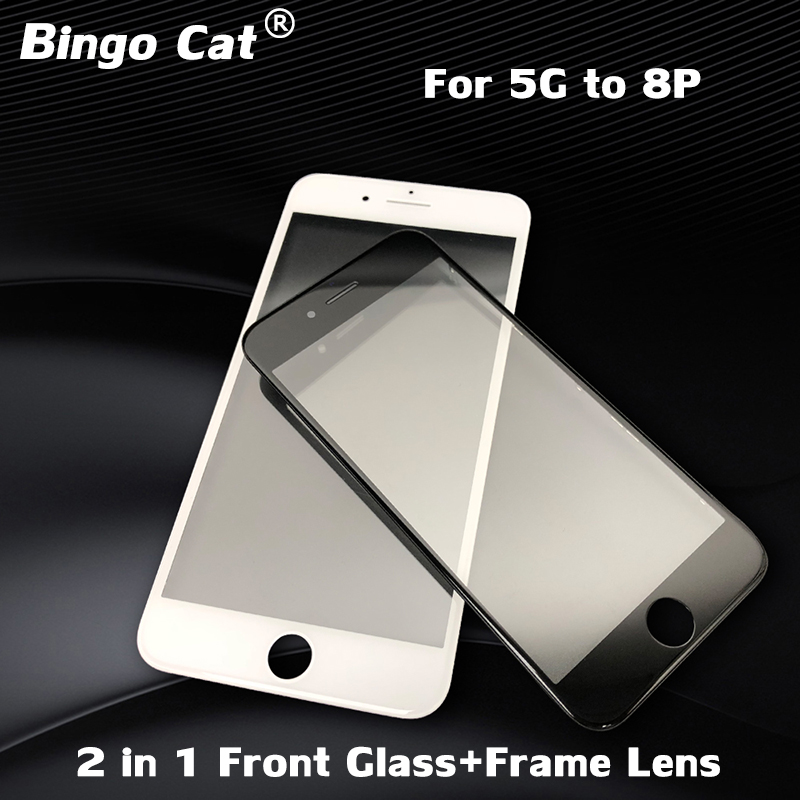 Front Outer Glass Lens With Frame Bezel Replacement For iPhone 6 plus/6s plus 4.7 inches LCD Screen Outer Panel Lens Repair Part image