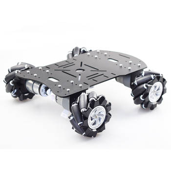 Moebius 4WD 80mm Mecanum Wheel Robot Car Chassis Kit with DC 12V Encoder Motor for Arduino Raspberry Pi DIY Project STEM Toy цена 2017
