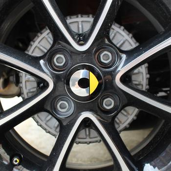 Dla Mercedes Smart Fortwo Forfour 453 451 450 4 sztuk zestaw naklejki na koła zmodyfikowana pokrywa koła naklejki samochodowe akcesoria 55mm tanie i dobre opinie Opony i Obręczy CN (pochodzenie) Inne naklejki 3d Zmieniające kolor Stop metalu Bez opakowania