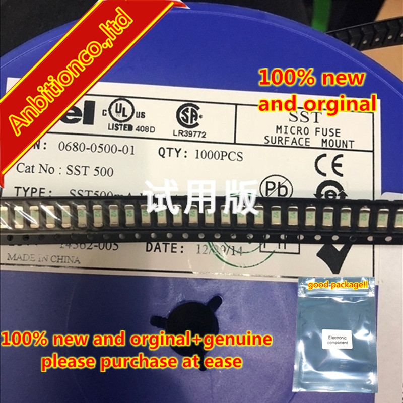 10pcs 100% New And Orginal SMD Fuses 2410 500MA SST500MA 1808/2410 125V 1/2 In Stock