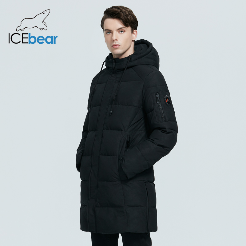 ICEbear 2020 new men's winter coat high-quality men's jacket windproof warm hooded parkas MWD20933I
