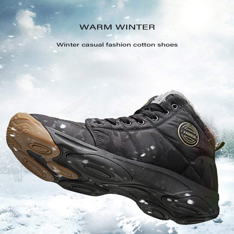 Snow-Boots Hiking-Shoes Outdoor-Shoes Waterproof Keep-Warm Wear-Resistance Winter Nylon