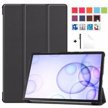 For Samsung Galaxy Tab S6 10.5 2019 SM-T860 SM-T865 Case Magnet Auto Sleep Weak stand For Galaxy Tab S6 10.5Funda Capa+Gift(China)