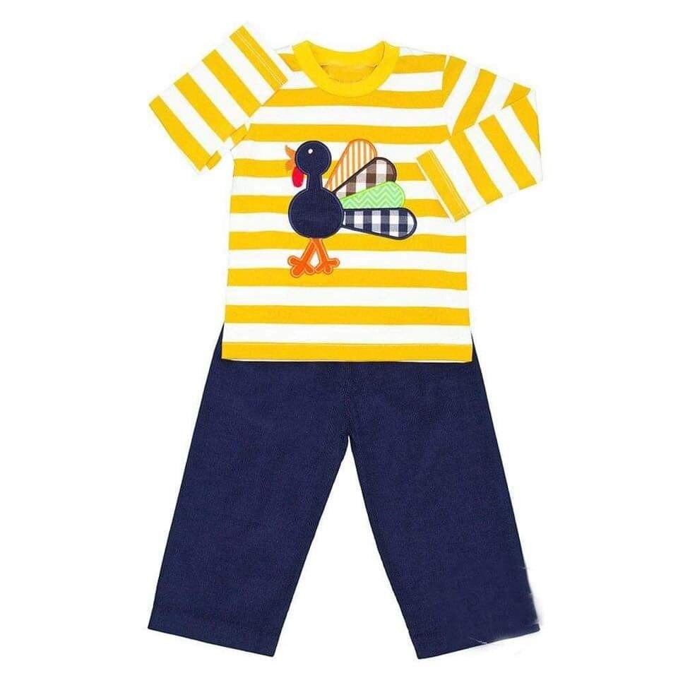 Ropa de ejercicio para niño, ropa de verano para bebé, ropa de niño con patrón de rayas y pavo, ropa exterior superior envío gratis