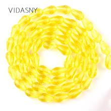 Yellow Faceted Teardrop Austrian Crystal Beads For Jewelry Making 11*8mm Waterdrop Glass Diy Bracelet Earring Accessories
