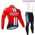 Invierno 2020 equipo Sunweb térmico polar Ciclismo Jersey Bicicleta pantalones conjunto hombres Ropa Ciclismo 20D LOTTO BAHRAIN