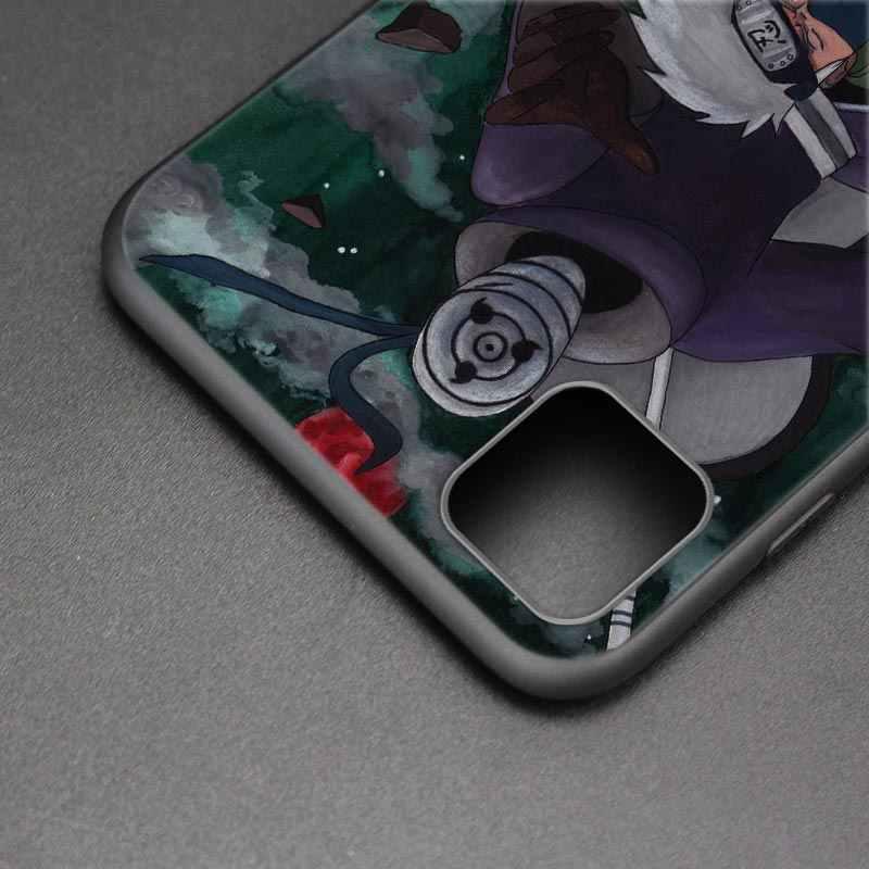 Kılıf Coque Apple iPhone 11 Pro MAX X XR XS Max 7 8 artı 7 + 8 + 6 6S artı 5 5S SE Fundas çapa Kakashi Uchiha Obito
