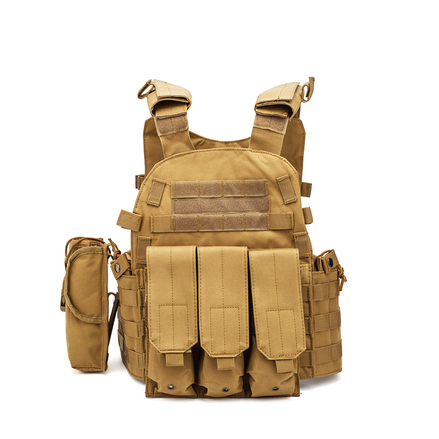 Men Military Tactical Vest Paintball Camouflage Molle Hunting Vest Assault Shooting Airsoft Vests Outdoor Clothes Accessories 5