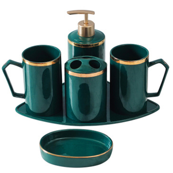 Nordic Ceramic Bathroom Wash Set home Toothbrush Holder Couple Mouthwash cup Set Hotel Bathroom Accessories Set Lotion Bottle