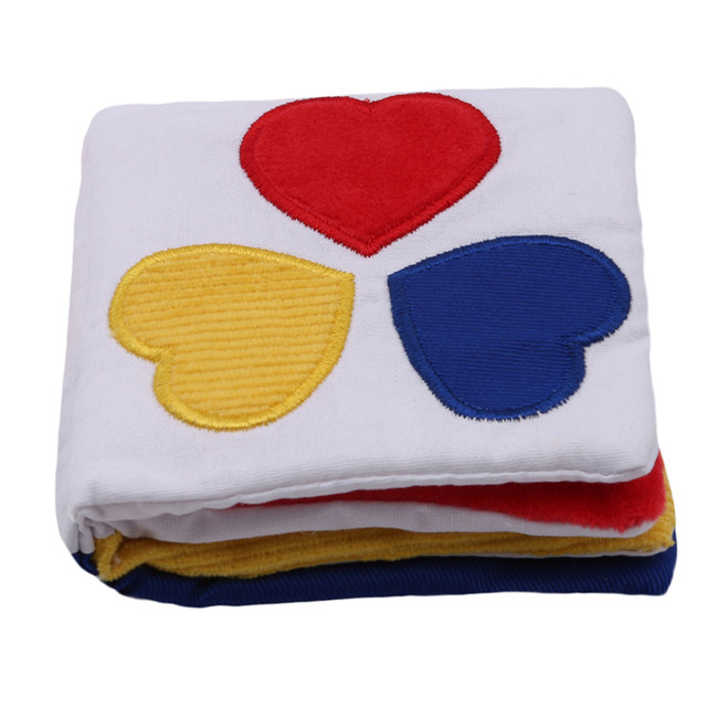 New Newborn Baby First Colorful Soft Cloth Infant Book Kids Educational Rattler Toy Stimulate Vision Book With Paper BB Sounds