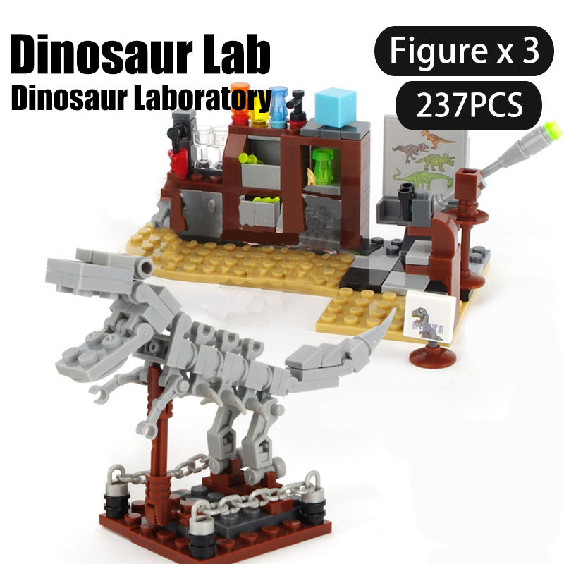 Jurassic World Dinosaurs Building Blocks Series Do experiments in Dinosaur/Tyrannosaurus escaped from the base Boy Brick Toys image