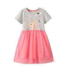 2020 Licorne robe robes enfants robes pour les filles robe de fille D'été robe fille robe roupas infantis menina Enfants costume Nouveau