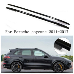 JINGHANG Aluminum alloy Car Roof Rails Rack Carrier Bars Silve/Black Fits For 11-17 Porsche cayenne 2011-2017