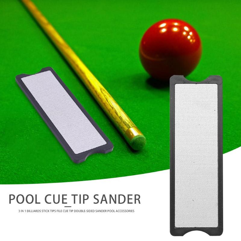 3 in 1 Billiards Stick Tips File Excellent Steel Rough and Fine Grinding Cue Tip Double-<font><b>sided</b></font> <font><b>Sander</b></font> Pool Accessories image