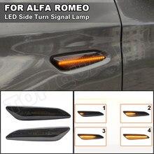 Dla Alfa Romeo 147 typ (937)/156 Fiat Egea Tipo Lancia Delta Ypsilon 3 LED wskaźnik dynamiczny włącz światła sygnalizacyjne lampa obrysowa lewa