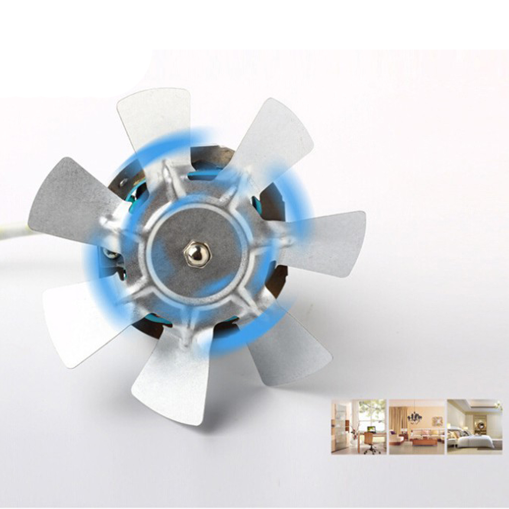 4 inch <font><b>100mm</b></font> 20W Inline <font><b>Duct</b></font> Booster <font><b>Fan</b></font> Ventilation Exhaust Air Blower White,Pack of 2 image