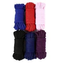 2m/5m/10 m bawełna liny kobiet dorosłych Sex produkty niewolników BDSM Bondage miękkie bawełniane liny zabawy dla dorosłych wiążące liny odgrywanie ról Sex