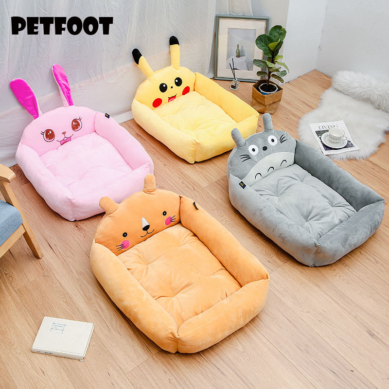 Dog bed Removable And Washable Teddy Cartoon Pet Nest Pet Ssupplies Large dog Golden Dog Bed Mat Pet Accessories 1