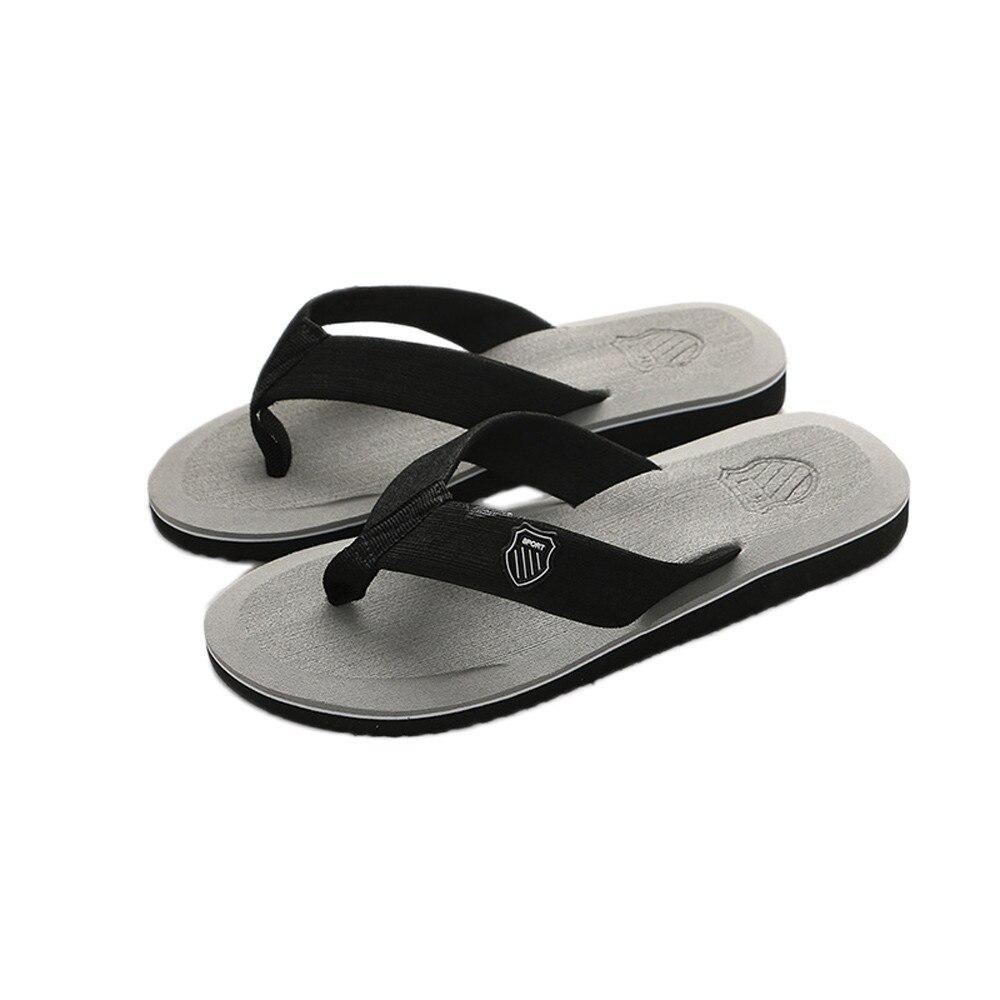 Шлепанцы SAGACE мужские для пляжа, Нескользящие сандалии, плоская подошва, Повседневные тапочки, летние