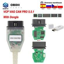 VCP-herramienta de diagnóstico automotriz Can Pro 5.5.1, escáner OBD OBD2 para VW/Audi, Cable de diagnóstico de coche, autoescáner VCP, CAN BUS + UDS + k-line UDS