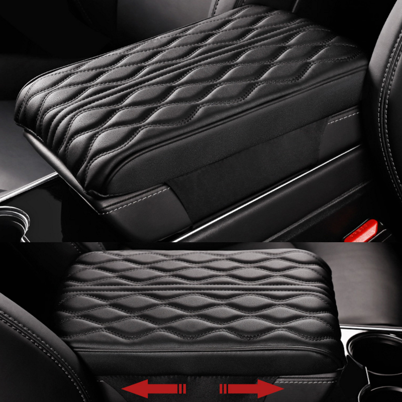 Foal Burning Central armrest box pad armrest support memory cotton booster pad for Tesla model 3 Car accessories|Automotive Interior Stickers| |  - title=