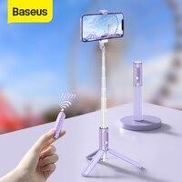 Baseus-tripé de selfie extensível com bluetooth, controle remoto e estabilizador de celular, para celular