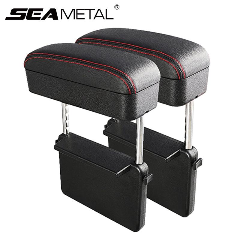 Console central do carro braço resto estilo do carro auto assento gap organizador caixa de descanso braço universal caixa cotovelo apoio ajustável