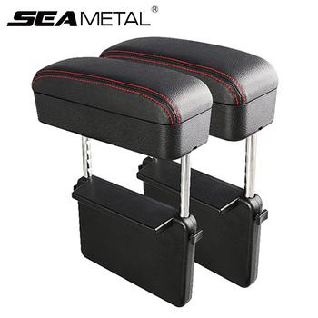 Konsola główna samochodu podłokietnik Car Styling fotel samochodowy Gap Organizer podłokietnik Box uniwersalne pudełko do podłokietnika samochodowego opaska na łokieć regulowana tanie i dobre opinie SEAMETAL CN (pochodzenie) Pudełko torba do szczeliny w fotelu PU Leather + Stainless steel Car Armrest Box C40164 About 23 5 x 8 x 8 5cm