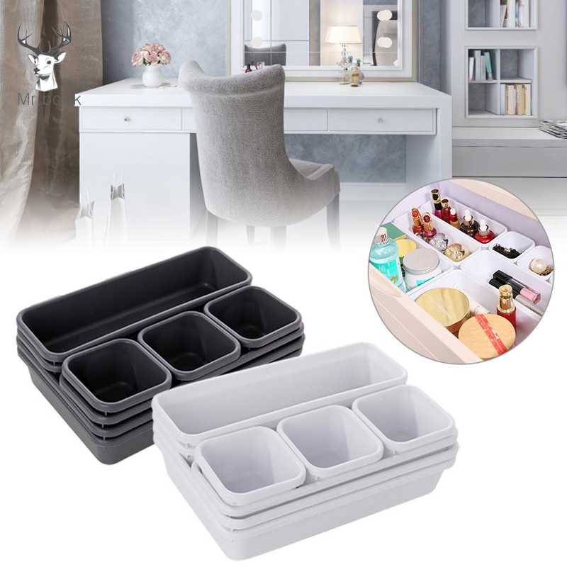8pcs Organizer Box Set Stationery Organizer Desktop Make Up Storage Box Cosmetic Organizer Drawer Trays Jewelry Box Container