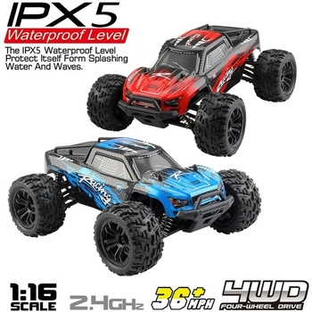 Wasserdichte Off-Road Bigfoot Maßstab 116 Rc Autos 4WD 2,4 Ghz High Speed /h Radio Gesteuert Monster Truck buggy Weihnachten Geschenk