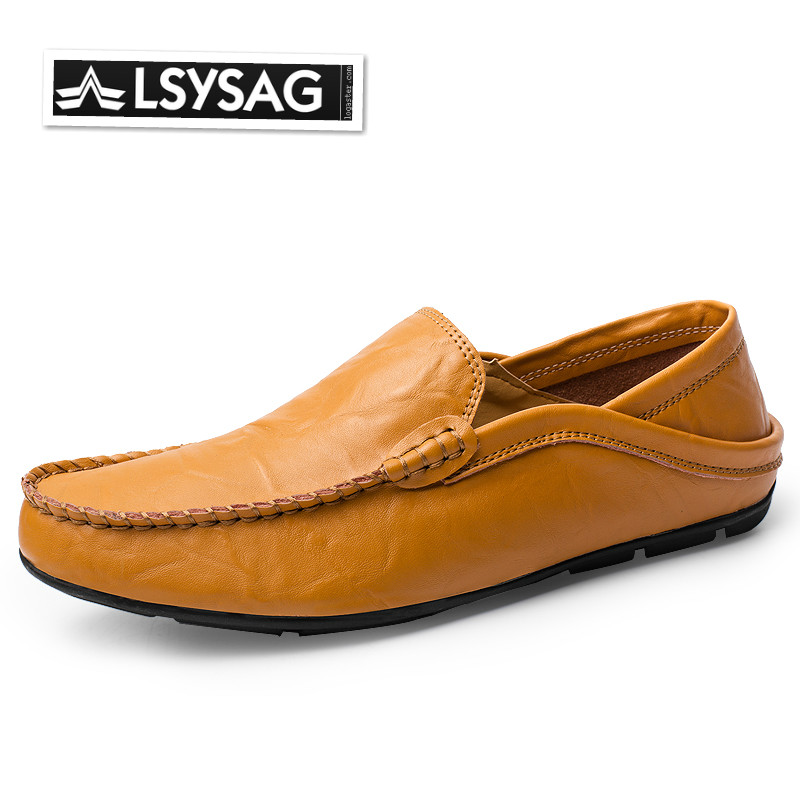 Men Loafers Genuine Leather Moccasins Shoes Outdoor Casual Shoes Flats Male Driving Footwear Zapatos Hombre Big Size 38-45