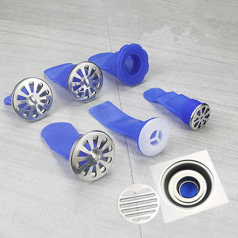 Zestaw pieczątek podłogowych okrągły zlew spustowy Backflow Preventer odpływy silikonowe wtyczka rury kanalizacyjne prysznic kuchnia wanna pierścień uszczelniający