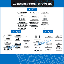 "Nieuwe Complete interne schroeven set voor Macbook Pro Retina 13 ""15"" A1706 A1708 A1707 interne schroef Vervanging 2016 2017"