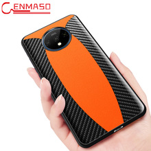 Fashion Shockproof for Oneplus 8 PRo 7T Carbon Fiber texture Leather Case for Oneplus 7T 7 Pro 8 One Plus 7 Pro 8 Pro back Case