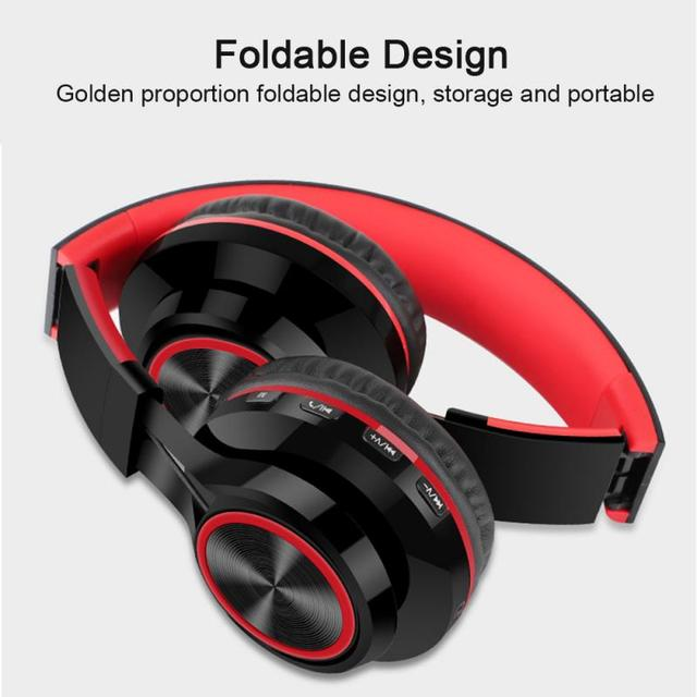 New Portable Wireless Headphones Bluetooth Stereo Foldable Headset Audio Mp3 Adjustable Earphones With Mic For Music 3