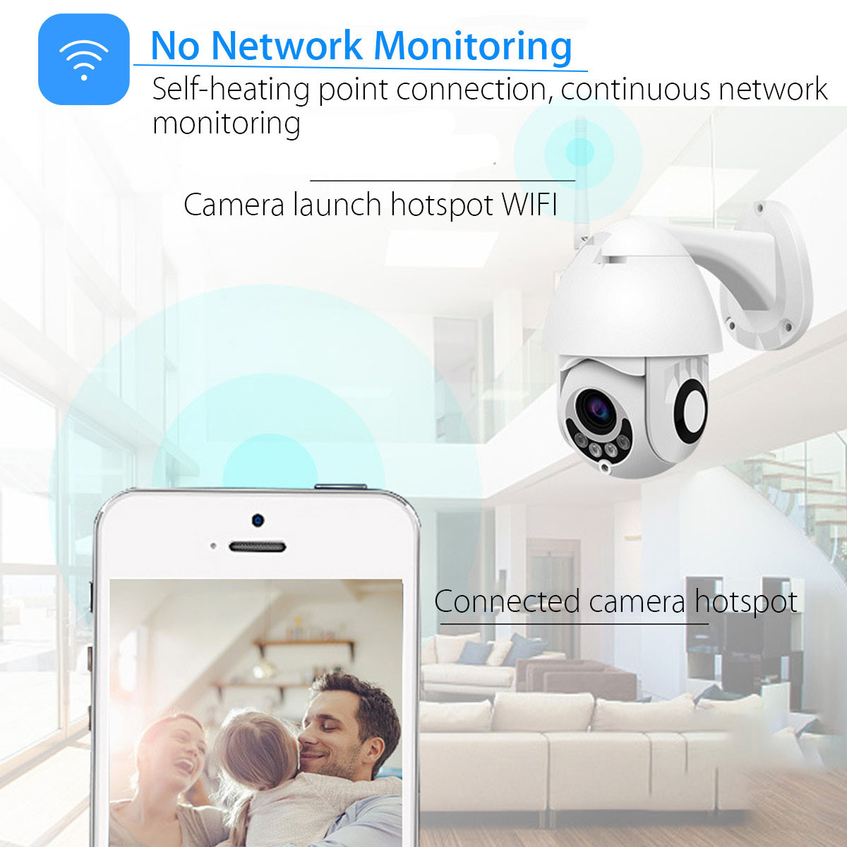 1080P Wifi PTZ Security Camera Outdoor Speed Dome Camera IP66 Waterproof Wireless Home Safe IP Camera Surveillance Device