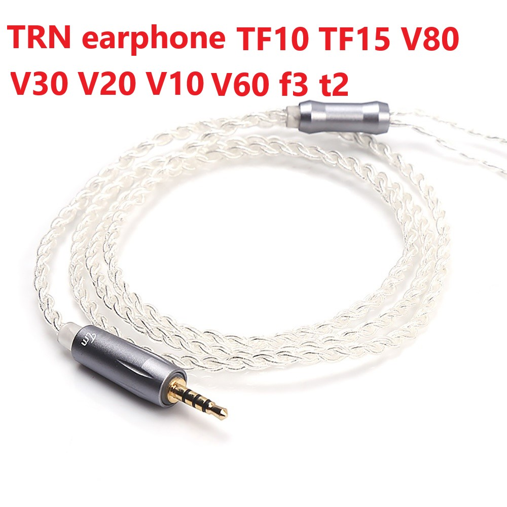 Brand New TRN Earphone Upgrade <font><b>Cable</b></font> <font><b>2</b></font>.5 <font><b>MM</b></font> Balanced Silver-plated <font><b>Cable</b></font> <font><b>0.75</b></font>/ 0.78mm Mmcx <font><b>2</b></font> <font><b>Pin</b></font> Plug TF10 TF15 V80 V30 V20 V10 image