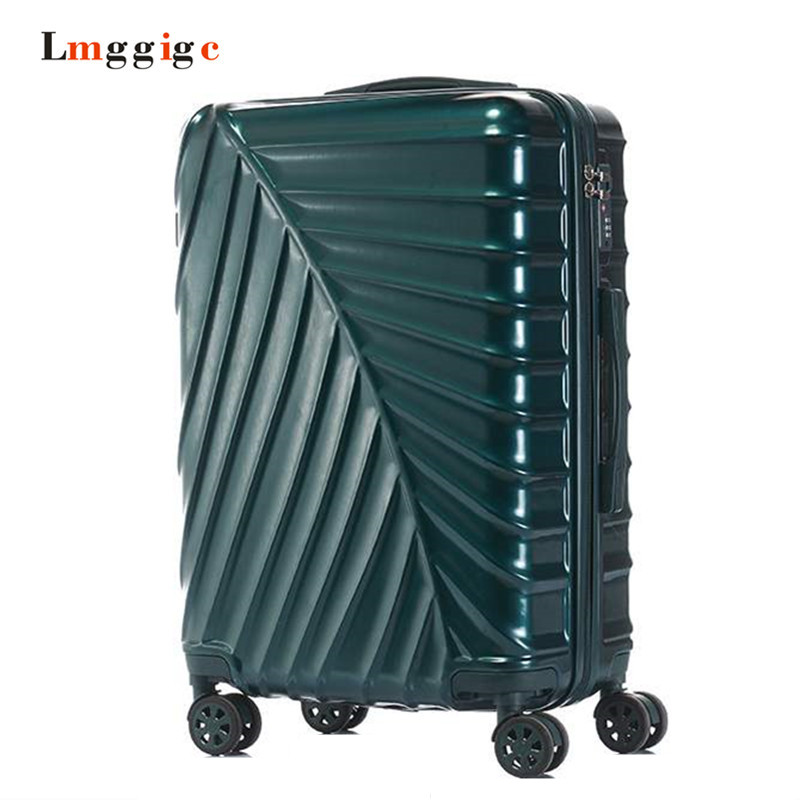 20 Inch Cabin Classic Design Trolley Case Women Suitcase Bag Men 24 Inch Rolling Luggage PC+ ABS Wheel Travel Box