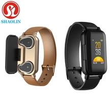 T89 TWS Smart Binaural Bluetooth Headphone Fitness Bracelet Heart Rate Monitor Smart Wristband Sport Watch Men Women