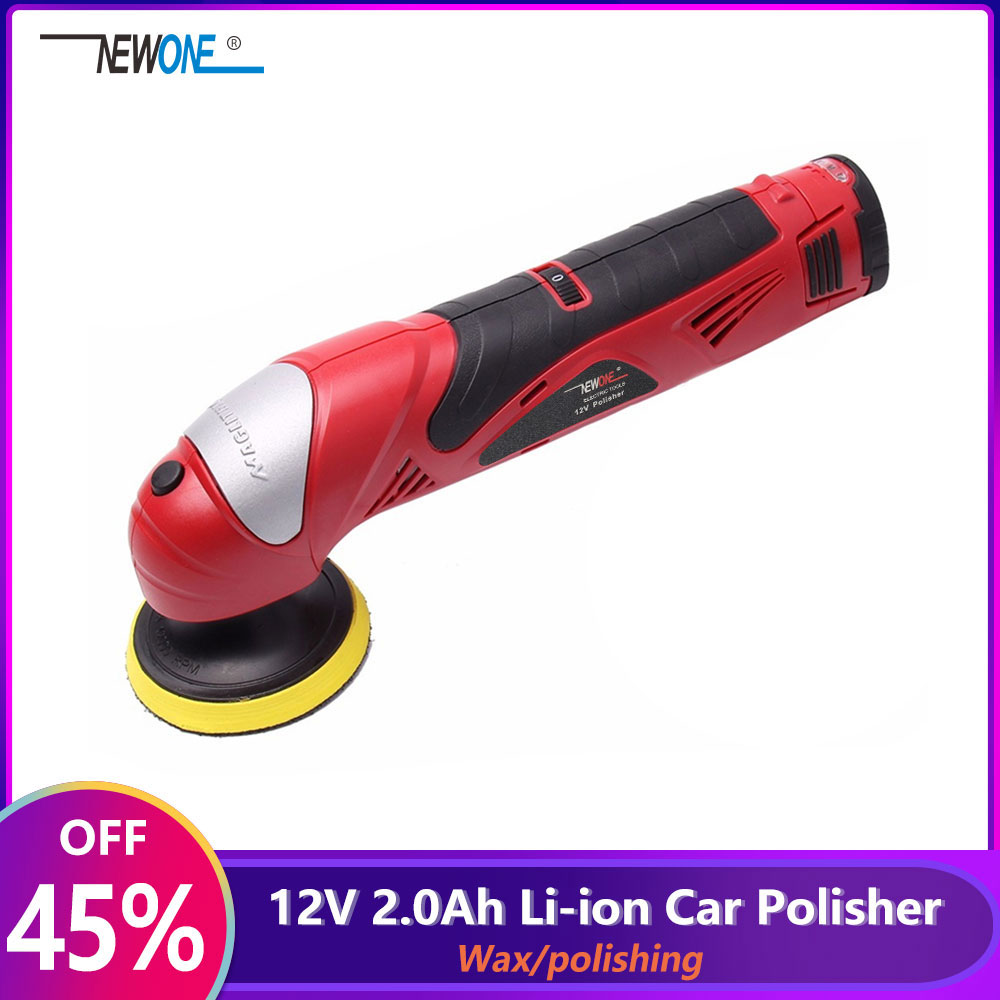 12V 2 0Ah Polishing machine with Lithium battery Car polisher 5 level adjustment of speed Sanding Machine Waxing Power Tool Buff